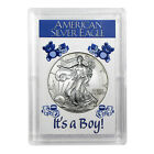 1996 1 American Silver Eagle HE Harris Holder Its A Boy Design
