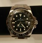 ROLEX GMT Master II 116710 Men's 40mm Black Ceramic Stainless Steel Watch