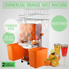 Commercial Electric Orange Squeezer Juicer 120W Stainless Extractor Hotels Bar