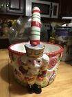 Fitz And Floyd Nutcracker Sweets Christmas Basket 2003 Holiday