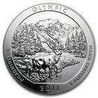 2011 Olympic NP America the Beautiful 5 oz Silver Coin excellent BU w capsule