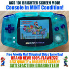 Nintendo Game Boy Advance GBA Glow System AGS 101 Brighter Backlit Mod MINT