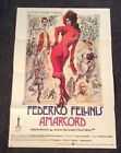 Amarcord Original Poster for German Release Federico Fellini 74