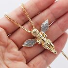 Wings Guardian Angel Necklace Gold Tone Sparkled Silver Stardust Christmad Gift
