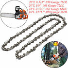 "16""/18""/20"" Chainsaw Chain Blade Replacement Saw for Baumr-AG Husqvarna 4 Sizes"