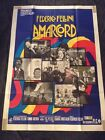 Amarcord Original Italian One Panel Poster Federico Fellini