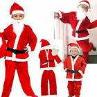 Kids Father Christmas Santa Claus Suit Costume Boys Child Girls Xmas Dress US