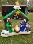 Outdoor Nativity Scene Lighted Large Inflatable Yard Decorations Decor 7 FT New