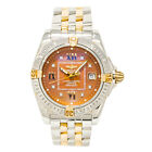 BREITLING WINDRIDER COCKPIT B71356 WOMENS QUARTZ WATCH BROWN DIAL TWO-TONE 31MM