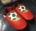 ROBEEZ Shoes Soccer Ball Sz 18 24 M Red Baby Toddler Leather Never Worn Package