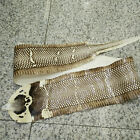100 real snakeskin hide tanned sea snakeskin genuine Pelts Leather Cream glossy
