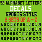 A Z ALPHABET LETTERS DECALS SPORTS STYLE 1 SET OF 2 26 A Z LETTERS 52 STICKER