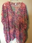 Womens Pink Sheer Leopard Cheetah One Size Coverup