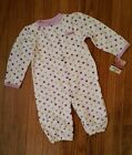 NWT CARTERS 6 MOS ONE PIECE GIRLS LITTLE PRINCESS POLKA DOTS SNAP UP FOOTED