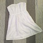 Forever 21 Womens Size Small White Eyelet Dress w Pockets Spring Summer Church