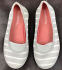 Hanna Andersson Girls Shoes 2M Tennis Striped Gray White Mimmi2