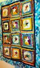NEW LIBERTY STAR 100 BATIK BUGGY BARN COLLECTIONS MULTI QUILT TOP