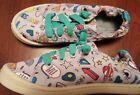 Cat  Jack Girls Shoes Fashion Sneakers Size 13 multi color gray teal cool slips