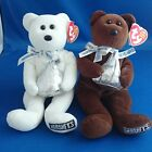 2 Ty Beanie Babies Hershey's Cocoa Bean & Hugsy 2007 EXCELLENT