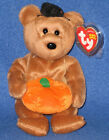 TY HOCUS the HALLOWEEN BEAR BEANIE BABY - MINT with MINT TAGS