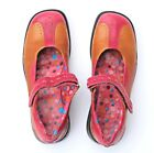 Umi Shoes Big Girls size 6 Youth Pink Brown leather Mary Jane Womens 7 75 38