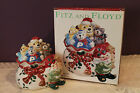 FITZ AND FLOYD HOLIDAY ELF LIDDED BOX - SANTA'S TOY BAG - ORIGINAL BOX