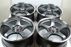 4 New DDR Fuzion 17x75 5x108 110 38mm Gunmetal Polished Lip 17 Rims Wheels