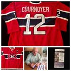 Yvan Cournoyer Montreal Canadiens Signed Autograph NHL Hockey Jersey JSA L20680