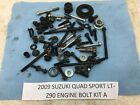 09 SUZUKI QUAD SPORT LTZ90 LT 90 Z90 ENGINE BOLTS MISCELLANEOUS NUTS PARTS A