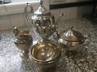 Vintage Towle Candlelight Sterling Silver Four Piece Tea/Coffee Set