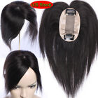 Silk Mono 100% Human Hair Topper Hairpiece Toupee Top Piece For Women Wig USPS