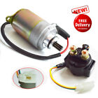 STARTER and relay MOTOR GY6 150cc 157QMI 157QMJ Go Kart Scooter Moped ATV Quad