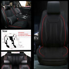 Deluxe Edition Car Seat Cover Front + Rear 5 Seats PU Leather Cushion w Pillows