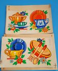 Vintage Duro Decals Creamer Plate Sugar Bowl Fiesta Dishes Colors