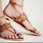 Free People Womens Twilight Cove Leather Toe Sandals Shoes NEW NIB 58 size 8