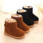 Baby Unisex Toddler Warm Boots Boys Girls Winter Snow Fur Slip On Soft Shoes US