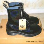 DR MARTENS PASCAL PETROL Ladies Shimmer Glitter Ankle Boots