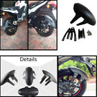 Black Motorcycle Fender Rear Wheel Cover Splash Guard Mudguard with Bracket