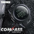Men's Compass Watch Countdown LED Digital Wrist Watches Outdoor Military Black