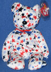 TY RED, WHITE & BLUE (RWB) the BEAR BEANIE BABY - MINT with MINT TAG
