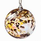Glass Friendship Ball 10cm Gold Coloured Amelia Art Glass Delivery is Free