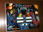 NEW FRAMED WILLIAMS PINBOT PIN BOT PINBALL MACHINE BACKGLASS NOT A TRANSLITE