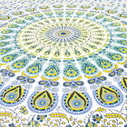 Small Twin Yellow White Iindian Mandala Hippie Bedspread Tapestry Boho Beach Boh