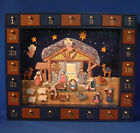 Wood  Magnetic Christmas Nativity Advent Calendar J3767