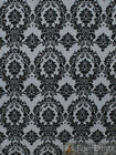 Taffeta Damask Velvet Flocking Fabric 58 Wide Sold By The Yard