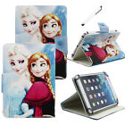 """For 7""""-10.1"""" Tablets PC Frozen Elsa & Anna Universal PU Leather Case Stand Cover"""