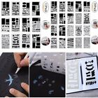 Set of 12 20 Bullet Journal Stencil Plastic Planner DIY Drawing Template Diary