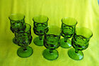 SET OF 6 VINTAGE GREEN INDIANA GLASS GOBLETS! 50+ YEARS OLD! MINT CONDITION!