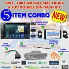 1995-2002 GM FULL SIZE TRUCK & SUV DOUBLE DIN CAR STEREO INSTALLATION DASH KIT E