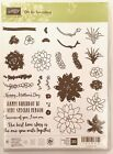 Stampin Up Oh So Succulent Flowers Cacti Aloe Leaves Wedding Birthday Stamps